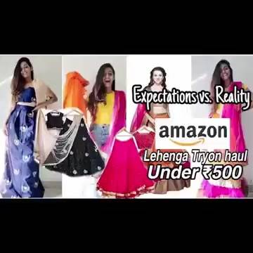 Bridal & Wedding Lehengas from Amazon for under Rs 500!